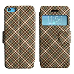 Be-Star Colorful Printed Design Slim PU Leather View Window Stand Flip Cover Case For Apple iPhone 5c ( Checkered Pattern ) Kimberly Kurzendoerfer