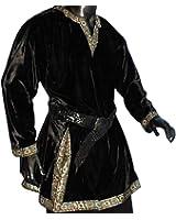 Tunika mit langem Arm, schwarz, Größen M, L, XL, XXL Mittelalter