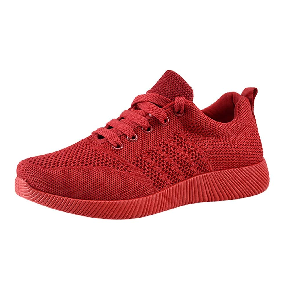 Clearance Sale for Shoes,Women's Shoes Flying Woven Casual Shoes Candy Color Student Running Shoes