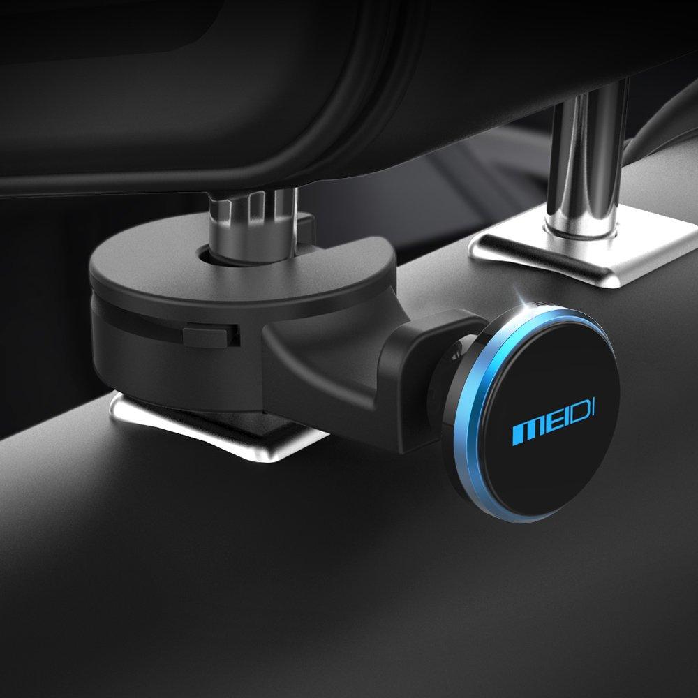 Meidi Supporto per poggiatesta Sedile Posteriore Gancio per Supporto Magnetico Auto (Blu) MEIDI-4017