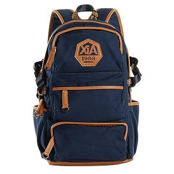 Wewod Mochila Deporte Mujer/Mochilas Trekking/Mochila Deportiva Grande/ Mochilas Escolares Juveniles/Mochila de Lona 30 x 48 x 13 cm (L*H*W) (Azul-b): ...