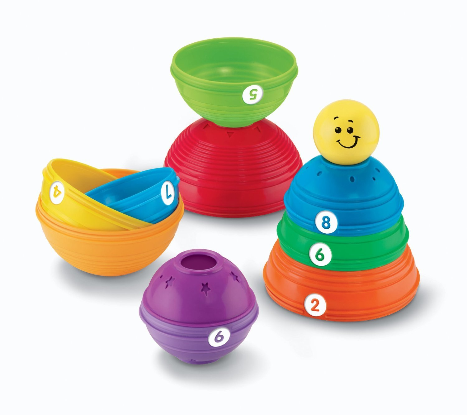 Amazon Fisher Price Brilliant Basics Stack & Roll Cups Toys