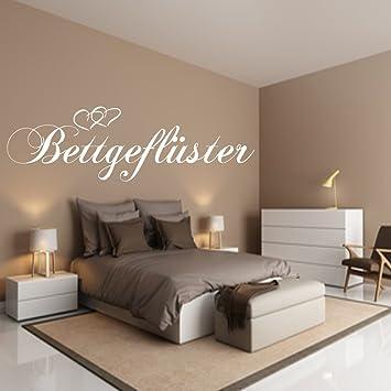 Wandtattoo Schlafzimmer BETTGEFLÜSTER Größe118cm x 28 cm Weiss