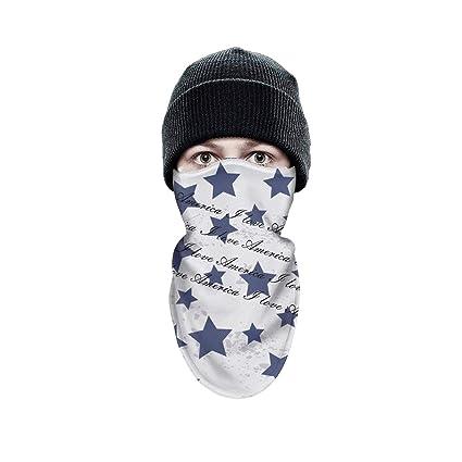 a0f608785ec Schild Women Men Winter Windproof Art American Flag Poster Half Face Mask  Ski Thermal Cute face