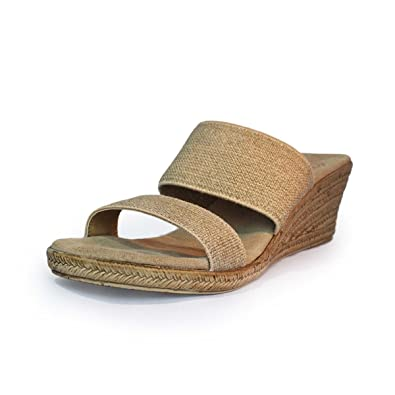 f2d1615454 Backless Cooper Espadrille Wedge Sandal - Linen - Size 10 - by Charleston  Shoe Co.