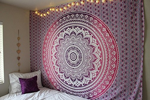 Popular Handicrafts New launched Tapestry Wall hangings Indian Mandala Wall Art, Hippie Wall Hanging, Bohemian Bedspread Purple