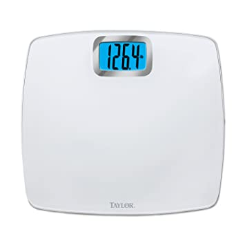 amazon com taylor glass digital bath scale pure white health rh amazon com taylor bathroom scale accuracy taylor bathroom scale not working