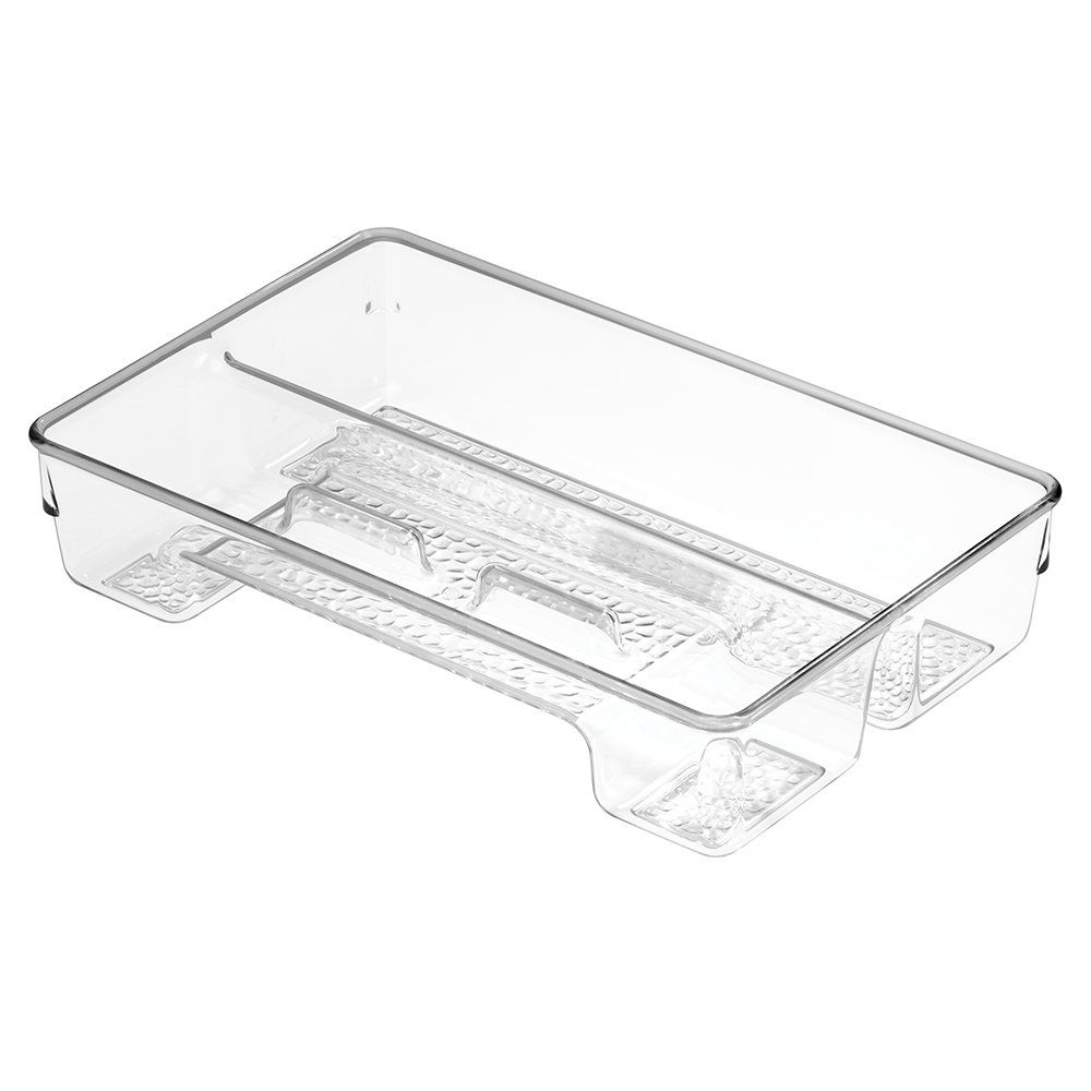 InterDesign Vanity Storage, Divided Tray 1, Clear 48850