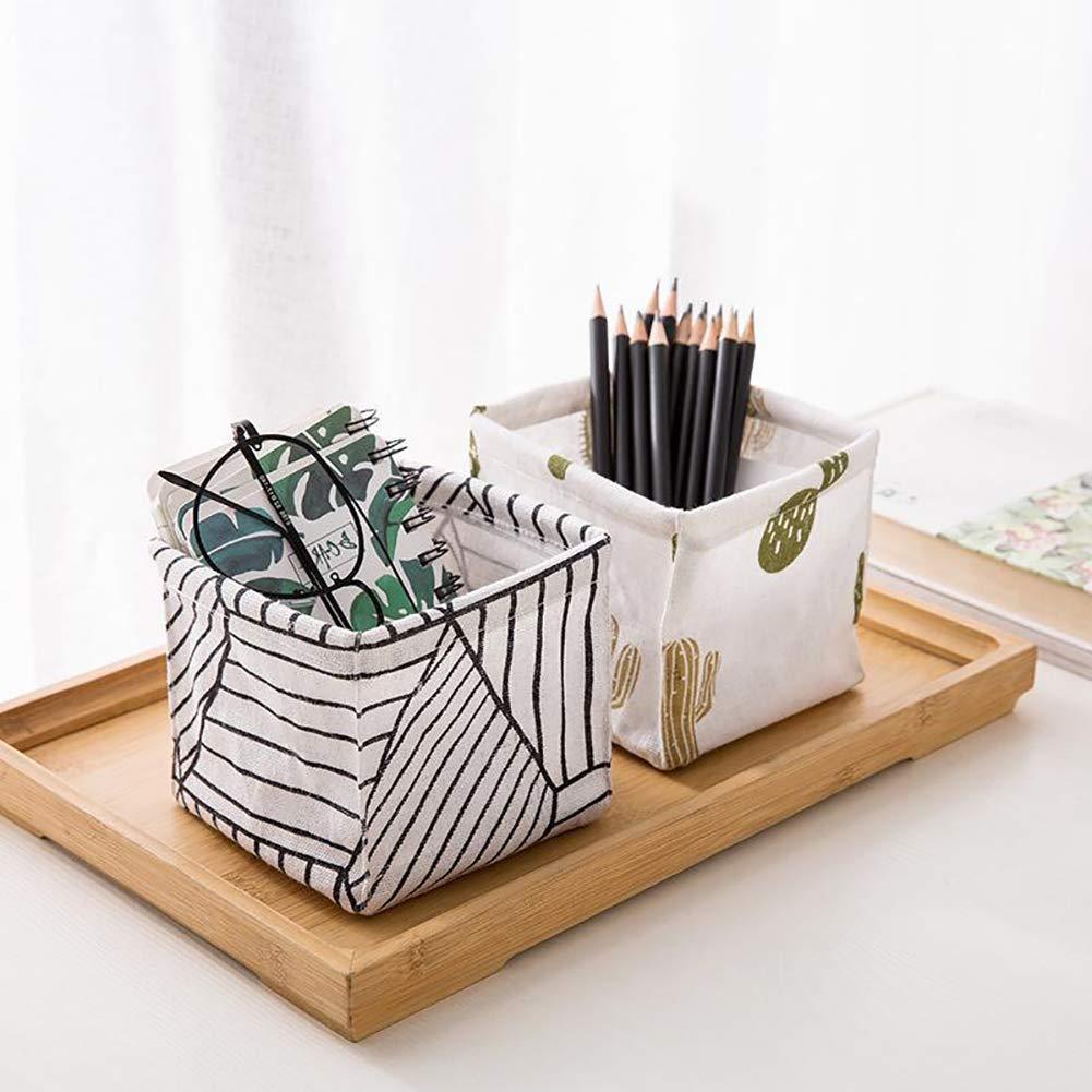 Flexible und langlebige 3# Ideal f/ür W/äsche Zubeh/ör und andere Aufbewahrungsboxen Ingrirt5Dulles Kiefer-Streifen-Kaktus-Desktop-Kosmetik-Kleinigkeiten-Organisator-Ablagekorb Dekoration
