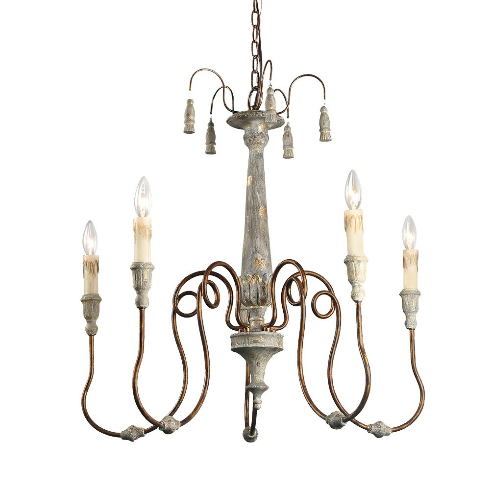French Country decor: Laluz French Chandelier. #frenchcountry #lighting #romanticdecor #interiordesign #chandeliers