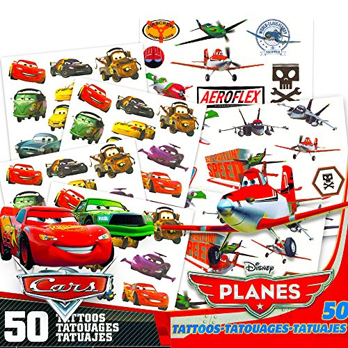 Disney Cars and Disney Planes Temporary Tattoos Pack