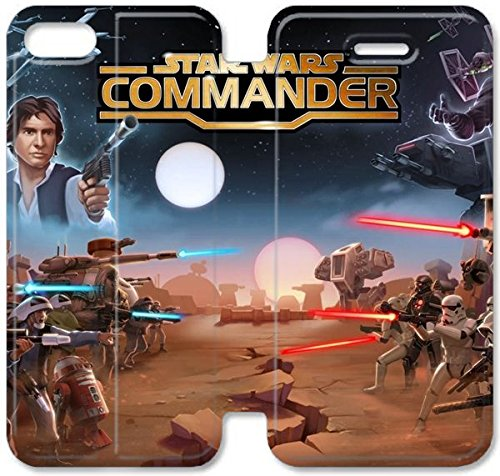 Coque iPhone 5C Coque Cuir, Klreng Walatina® PU Cuir de portefeuille Coque de protection pour Coque iPhone 5C Design By Star Wars T9Q7Hm