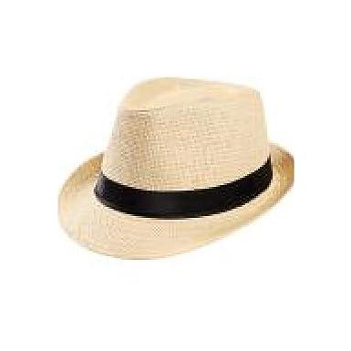373f00466f1 Unisex hat Trilby Gangster Cap Beach Sun Straw Hat Sunhat Chapeau  Femme