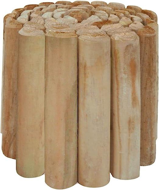 FZYHFA Rollo de Troncos Borde de jardín Madera pino 250x30 cm,Borduras para Jardin: Amazon.es: Bricolaje y herramientas
