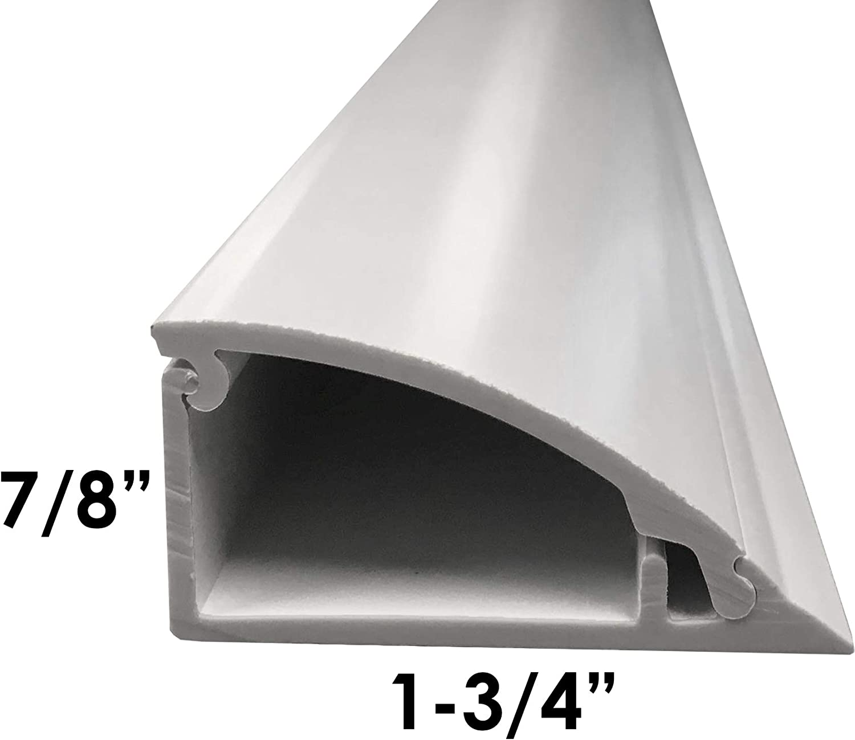 5 ft Stick Electriduct Crown Molding PVC Cable Raceway White
