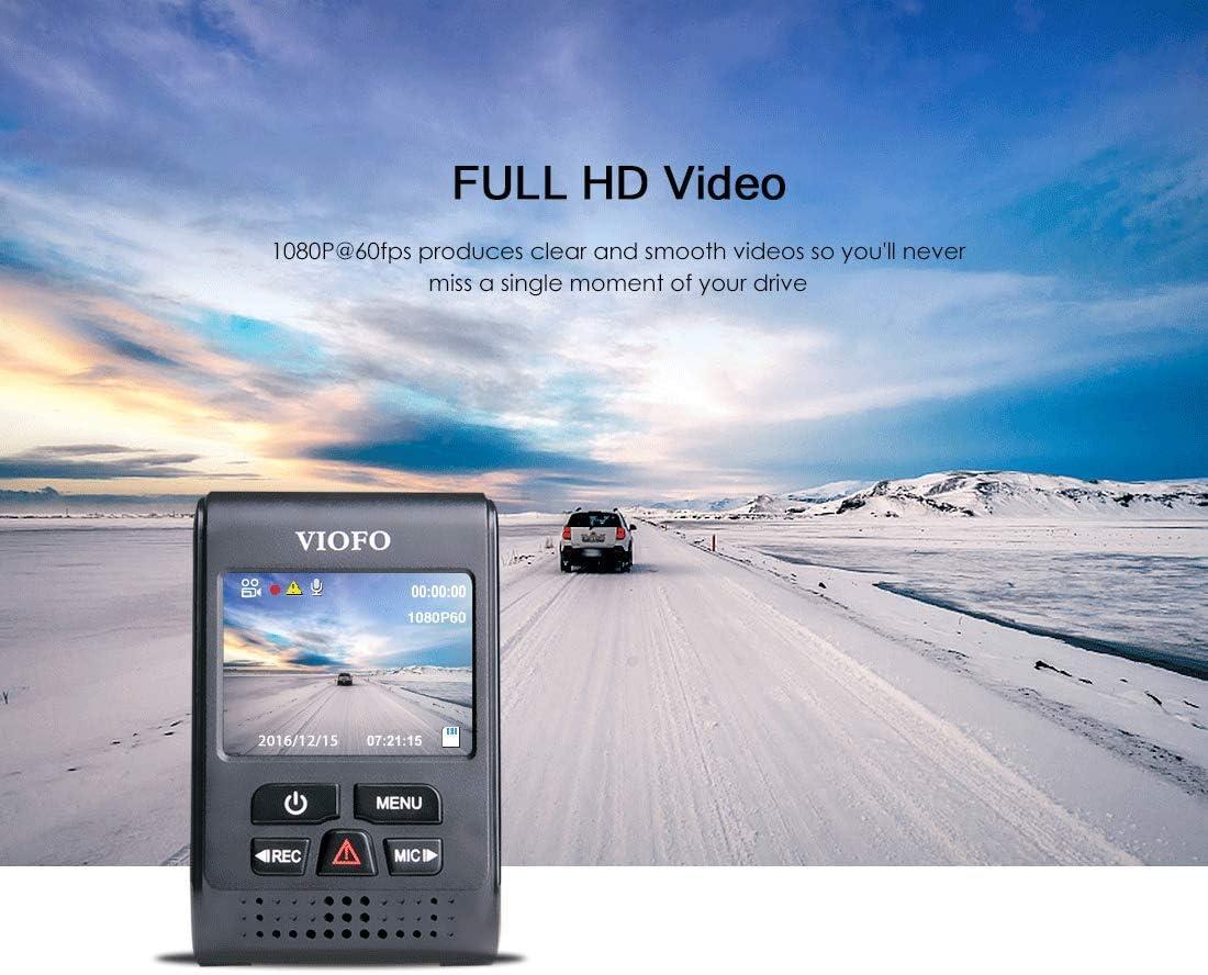 Cam/éra de Tableau de Bord VIOFO A119 2560x1440P 2K Super HD /à 160 /° avec Tableau de Bord Grand Angle Conception discr/ète avec enregistreur GPS
