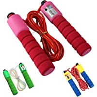 Taoguining Adjustable No Kinks Count Speed Jump Rope with Foam Handle for Aerobic Exercise Fitness Weight Lose Random Color