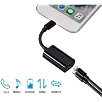for iPhone 7 8 Dual 2 Lightning Audio Headphone Adapter Charger Splitter BE