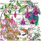 Michel Design Works 20 Count Cocktail Napkin, Fuchsia, Multicolor