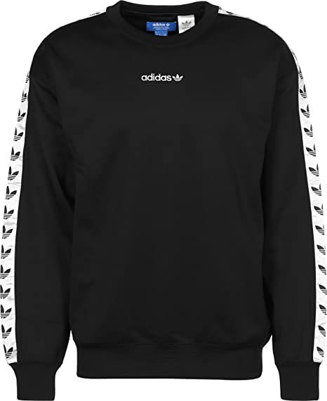 sale detailed look best adidas TNT Tape Crew Adicolor Classics sweat black/white ...