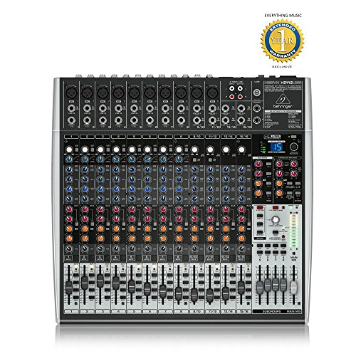 - Behringer XENYX X2442USB Premium 24-Input 4/2-Bus Mixer with 1 Year EverythingMusic Extended Warranty Free