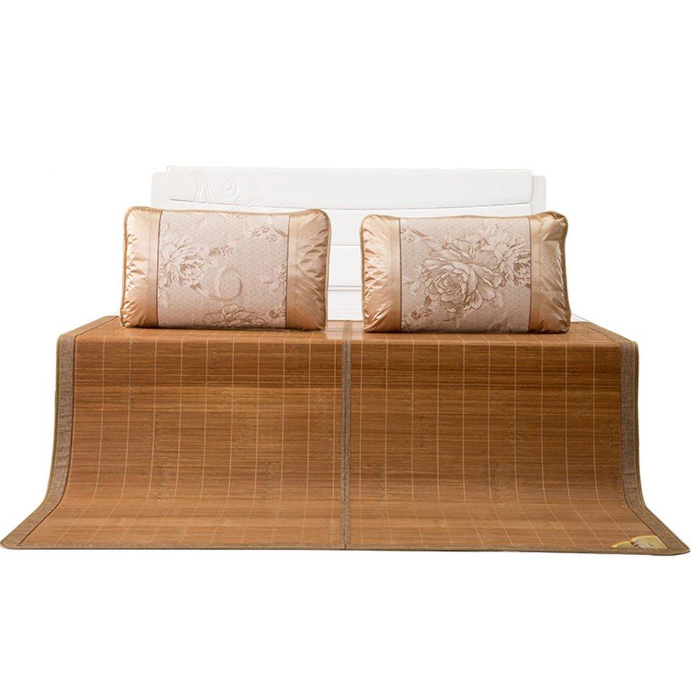 WENZHE Bambus Matratzen Sommer-Schlafmatten Strohmatte Teppiche Zusammenklappbar Doppelseitige Sitze Zuhause Schlafzimmer Multifunktion, 1,2/1,5/1,8 M (größe : 1.2×1.9m)