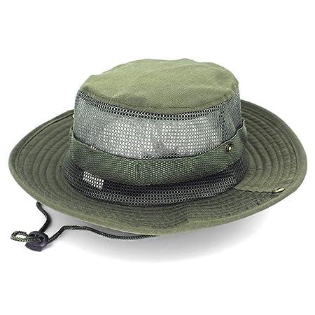 zhuzhuwen Sombrero de Pescador al Aire Libre, Sombrero de Jungla ...
