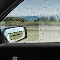 Car Rearview Mirror Film, HD Anti-Fog Rainproof Anti- Glare Safety Driving Guard Rear View Mirror Window Clear Sticker Waterproof Protective Films,packing 4