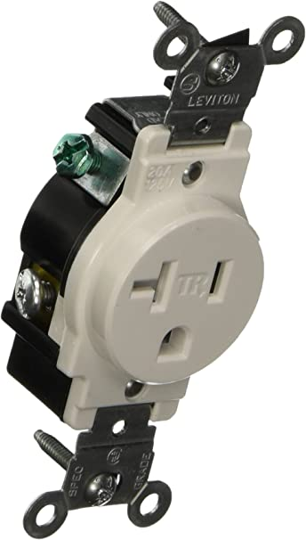 10 pack LEVITON Single Receptacle 2 Pole 20 Amp 125 volts  Brown