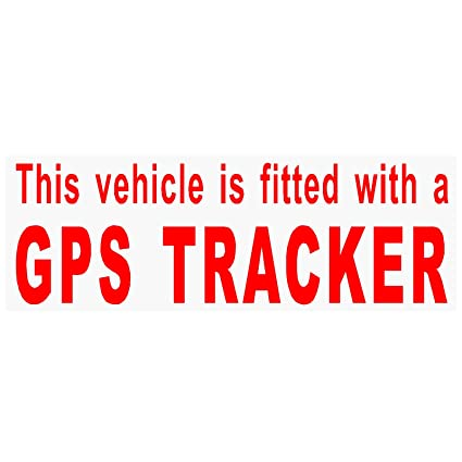4 x ajustable con un GPS Tracker security-red/clear-stickers ...