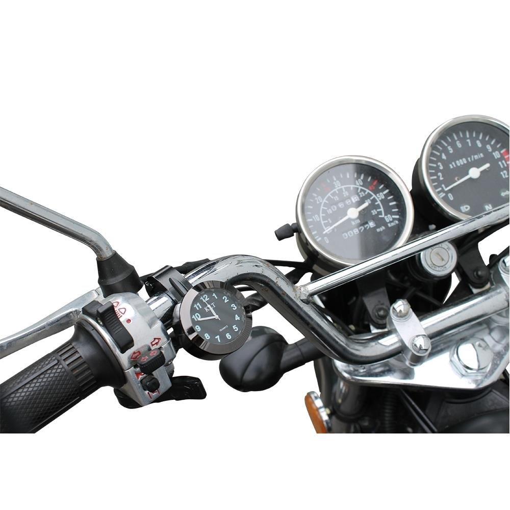 Motorraduhr Lenker Uhr schwarz Motorrä der Uhren Lenkerhalterung universal Citomerx