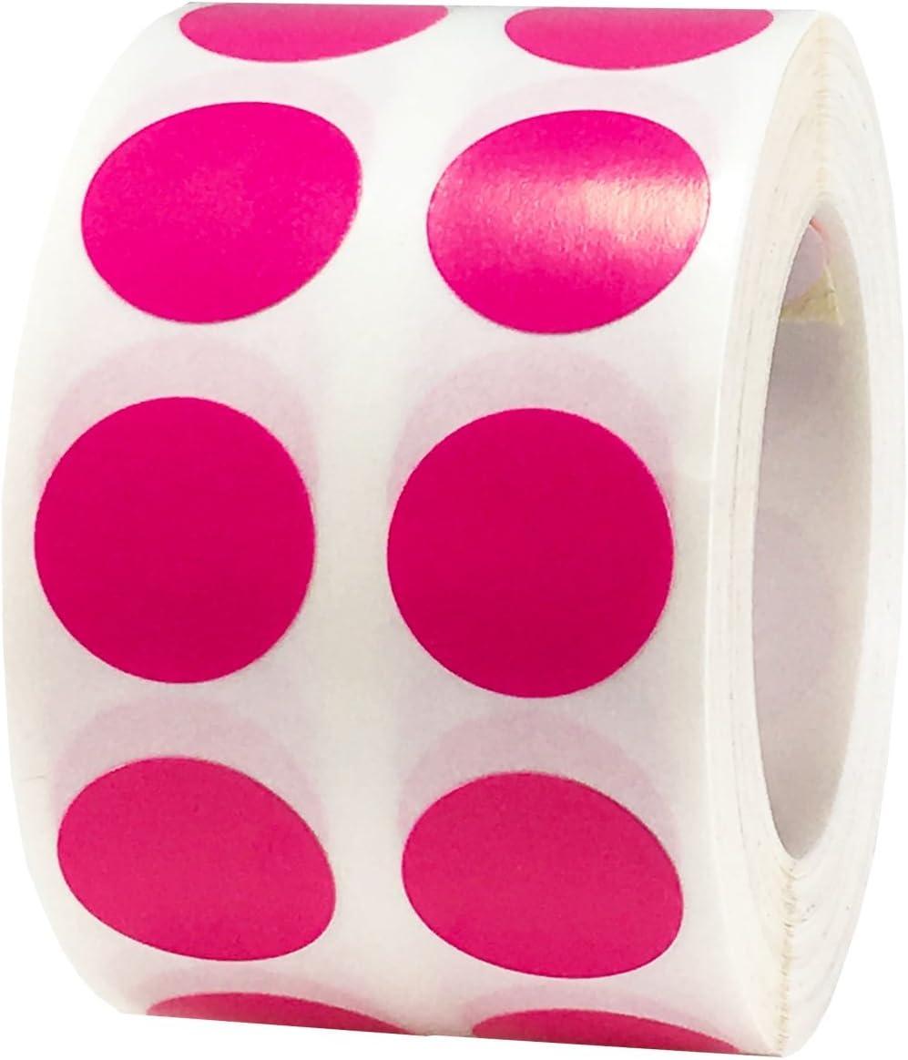 Hei/ß Gelb Kreis Punkt Aufkleber 1000 Etiketten auf einer Rolle 13 mm 1//2 Zoll Runde