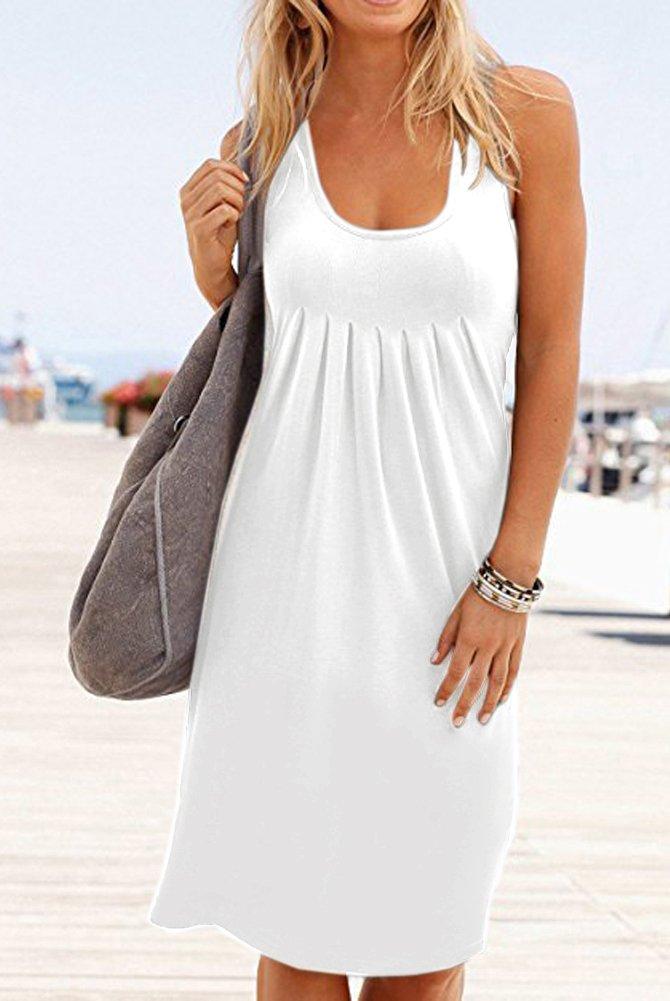 Camisunny Women Vest Dresses for Summer Beach Dress Swimsuit Swimwear Cover up Plain Size XXL by Camisunny (Image #3)