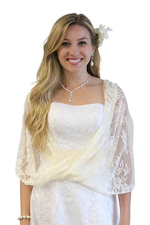 Lace Bridal Bolero Wedding Shawl Champagne At Amazon Womens