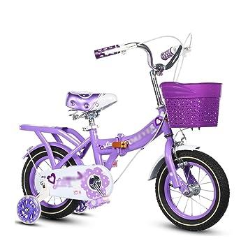 Bicicletas para niños Niños Bicicleta Plegable para Niños Niñas Princesa Modelos 3-10 Años Azul
