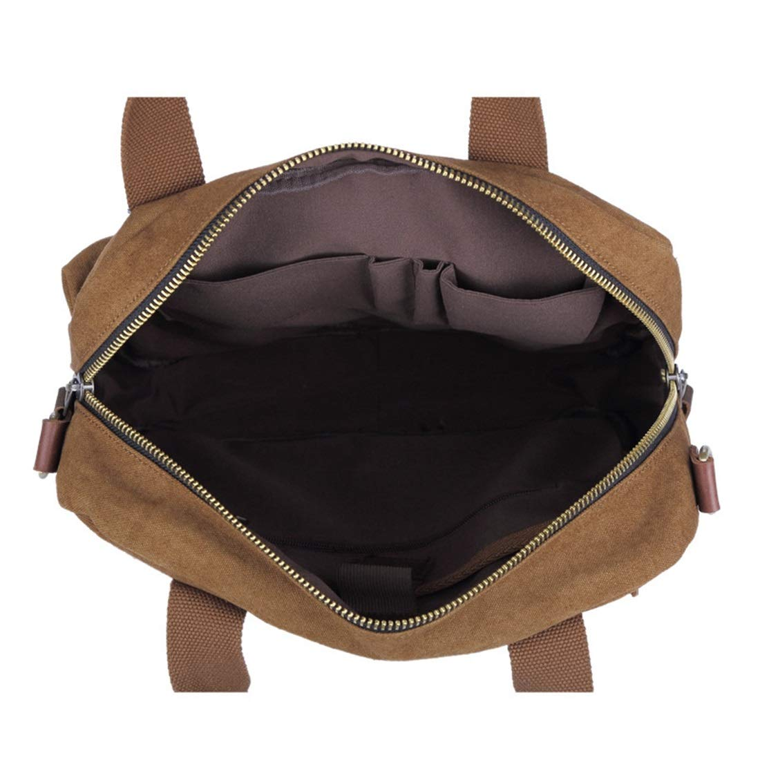 Color : Dark Green YUKILO Office Canvas Retro European Style Briefcase Shoulder Messenger Crossbody Satchel Casual Bag Holder for Men Business