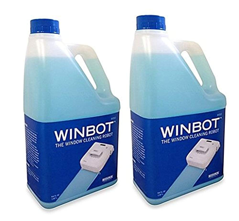 2 Pack of WINBOT Professional Cleaning Solution Refill, Half Gallon