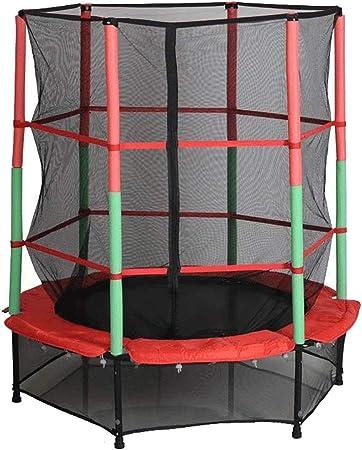 WZHESS Trampolín con Red Seguridad,Cama elástica Infantil para jardín,140 cm de diámetro,Peso máximo 50 kg, Apta para Exterior o Interior,para niños Niños Los Mejores Regalos de cumpleaños: Amazon.es: Hogar