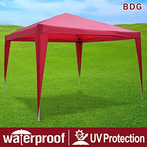 Strong Camel EZ POP UP Wedding Party Tent 10x13 Folding Gazebo Beach Canopy W Carry Bag 210D Oxford Fabric