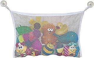 HENGSONG Baby Kids Toy Tidy Storage Suction Cup Bag Mesh Net Bathroom Organiser, Bath Toy Bag (L - 45 x 35CM)