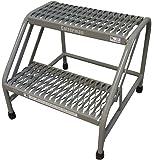 Amazon Com Cosco 2 Step Rolling Step Ladder Grey Home