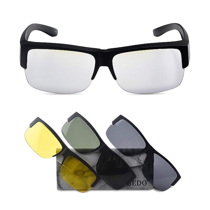 Amazon.com: BEDO TR90 - Gafas de sol polarizadas con 3 ...