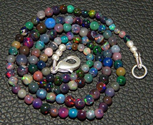 JP_Beads 2-3 mm AAA-Black Ethiopian Welo Opal Smooth Round Balls- 16.5