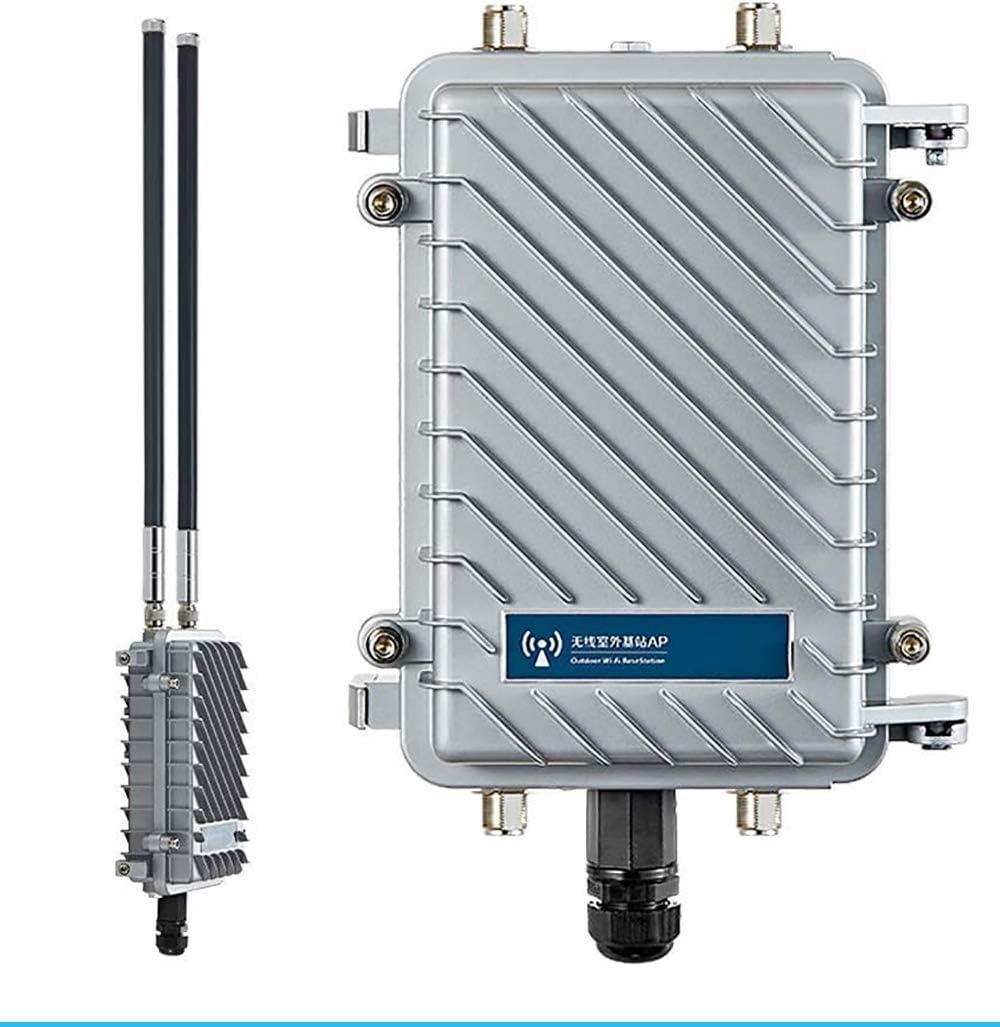 KuWFi Punto de Acceso de estación Base al Aire Libre Impermeable CPE/Ap al Aire Libre de 300Mpbs con Soporte de Antena de Panel de 18dBi Ap ...