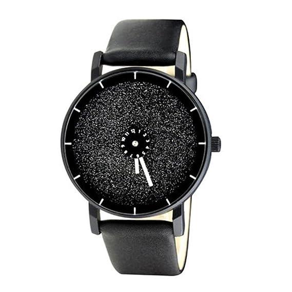 Luminoso/giro de segunda mano/reloj de acero/reloj único/creativo/