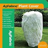 Agfabric Plant Cover Warm Worth Frost Blanket - 1.2 oz Fabric of 72''Hx72''W Shrub Jacket, Rectangle Plant Cover for Season Extension&Frost Protection