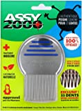 ASSY 2000–Pettine antipoux antilentes–in acciaio inox temprato con denti micro-cannelées