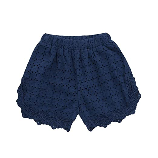 128a32f270 Wesracia Summer Beach Shorts, Children Girl Hollow Lace Floral Cotton Short  Pants Cute Clothes (