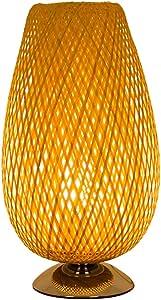 GYHBM Lámpara de Mesa de bambú Trenzada del sudeste asiático ...