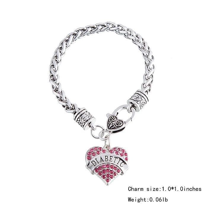 Lemegeton Antique Silver Heart Shape Basketball Pendant Wheat Chain Bracelet for Women Girls Gift Jewelry